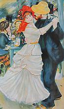 Auguste RENOIR 1841-1919   Le couple de danseur   Estampe    54 x 32
