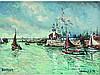 * Robert L.P. LAVOINE 1916-1999    La fête des marins à Honfleur   Huile sur toile signée en bas à droite et située en bas à gauche   44 x 60