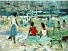 Jacques BARTOLI 1920-1995   Plage, 1959   Huile sur toile signée et datée en bas à droite    46 x 61