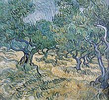 Vincent VAN GOGH 1853-1890   Les arbres   Estampe signée Vincent en bas à gauche   34,5 x 34