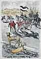 Yves BRAYER 1907-1990 Les chevaLiers Lithographie
