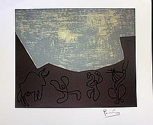 Linocut after Pablo Picasso