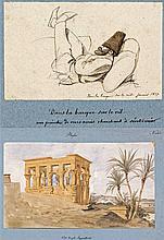 Ensemble de vues d'Égypte et de représentations de ses habitants