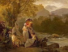 Le vieux conteur près de la rivière