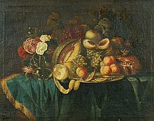 Früchte- und Blumenstillleben