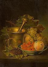 Früchtestillleben mit Mörser