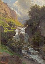 Bergbach aus den Schweizer Alpen