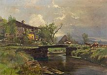 Brücke mit Kühen bei Oberaudorf