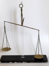 A rare Roman bronze balance scale