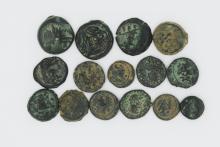 A lot of fifteen Greek bronze coins