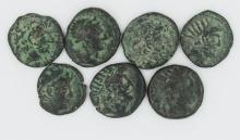 The Seleucids and the Gods; a seven coin set