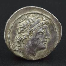 A silver tetradrachm of Antiochus VIII Epiphanes