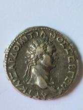 A silver tetradrachm of Domitian