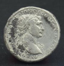 A Roman tridrachm of Trajan