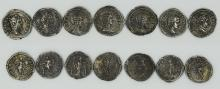 Seven Roman denarii of Septimius Severus, Julia Domna and Caracalla