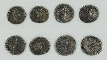 Four Roman denarii of the Severan Dynasty