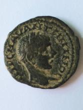 A Roman bronze coin of Caracalla