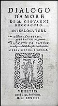 [Love] Boccaccio, Dialogo d'amore, 1574