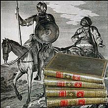 [Birth of Novel] Cervantes, Quixote, 1780, 4 vols