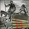 [Birth of Novel] Cervantes, Quixote, 1780, 4 vols