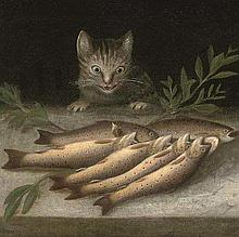 Sebastian Stoskopff, Still Life with Cat and Fishes