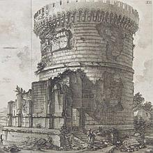 Piranesi, Sepulcher of Plauzia Family, 1757