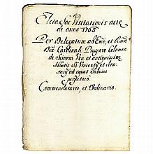 [Manuscripts, Survey to Church Structures] 1763