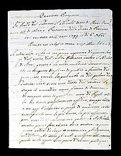 [Manuscripts, Eulogies, Popes, Cardinals] 5 docs