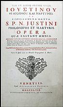 [Saints' Works, St. Justin] Opera, 1747