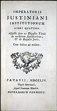 [Source of Western Law] Justinian, 1754
