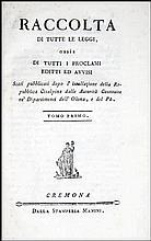 [Cisalpine Republic, Olona & Po Rivers] Laws 1797-8 4 v