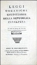 [Cisalpine Republic] Leggi organiche, Anno VI, 1797-8