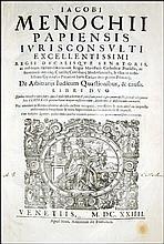 [Roman Law, Arbitrate, Judges] Menochio, 1624