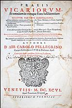 [Canon Law,Civil & Criminal Procedures] Pellegrino 1696