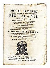 [Papal Laws on Real Estate & Economy] Edicts, 1804-36