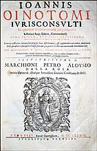 [Roman Law, Commentary] Oinotomus, 1683