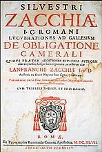 [Canon Law, Taxes, Debts] Zacchia, 1647