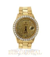 Yellow Gold Double Quick Rolex Day Date with Diamond Bezel. Appraisal Value: $26,000