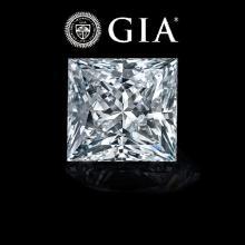 1.05 ct , Color E , VVS1 , Princess cut (GIA). Appraised Value: $32,500