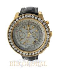 Yellow Gold Breitling for Bentley with Diamond Bezel. Appraisal Value: $29,200