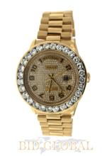 Men's Yellow Gold Rolex Day Date with Diamond Dial. Appraisal Value: $32,000
