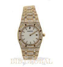 Yellow Gold Audemars Piguet Royal Oak Custom Diamond Watch. Appraisal Value: $34,600