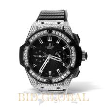 Men's Diamond Watch Hublot King Power. Appraisal Value: $46,600