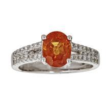 14kt 2.38ct Mandarin Garnet Ring  .Appraisal Value: $4,500