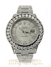 Stainless Steel Rolex Datejust II with White Diamonds. Appraisal Value: $51,400
