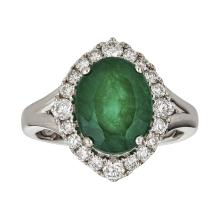 18kt 3.54ct Emerald Ring  .Appraisal Value: $16,500