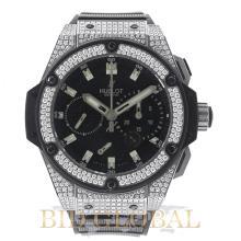 Hublot King Power 48mm Zirconium with Factory Diamonds. Appraisal Value: $37,200