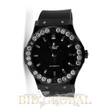 Men's Black Hublot Classic Fusion with Diamond Bezel. Appraisal Value: $22,000
