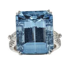 950 Platinum 2.42ct Aquamarine Ring  .Appraisal Value: $85,300