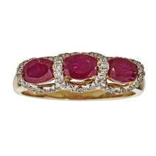 14kt 1.84ct Ruby Ring  .Appraisal Value: $3,200